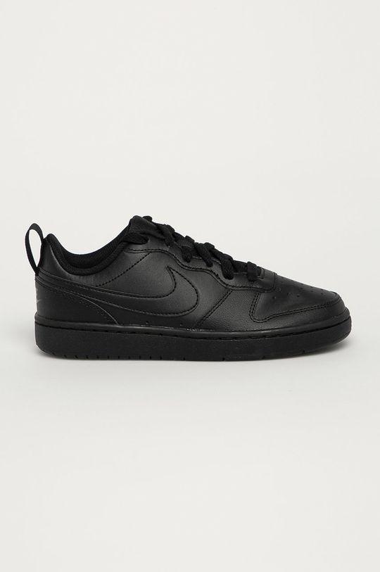 čierna Nike Kids - Detské kožené topánky Court Borough Low Chlapčenský