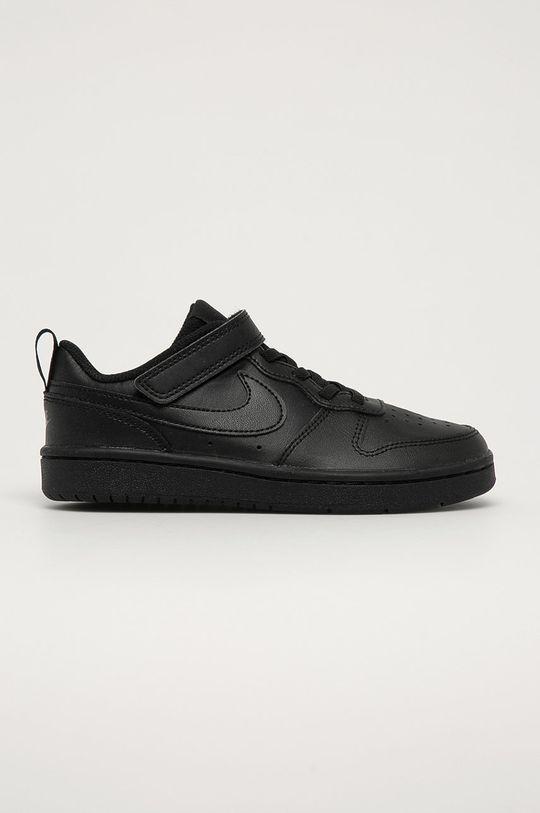 černá Nike Kids - Dětské boty Court Borough Low 2 Chlapecký