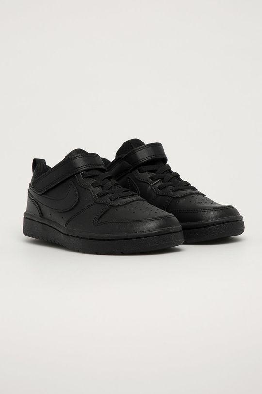 Nike Kids - Dětské boty Court Borough Low 2 černá