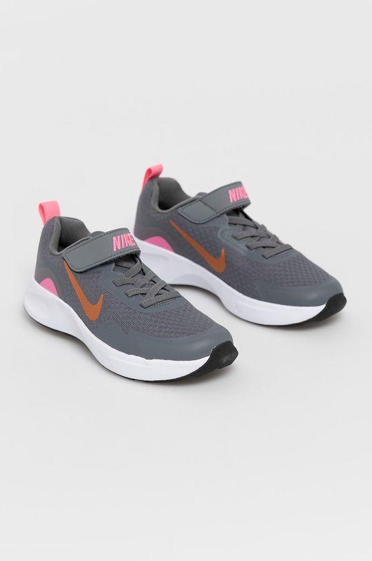 Nike Kids - Detské topánky WearAllDay sivá