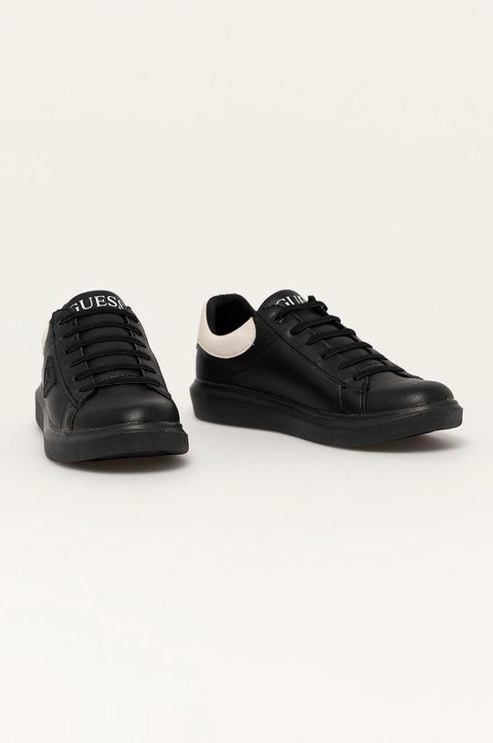 Guess - Buty skórzane dziecięce czarny