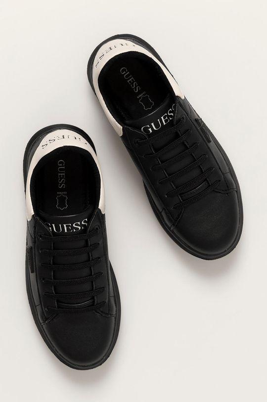 czarny Guess - Buty skórzane dziecięce