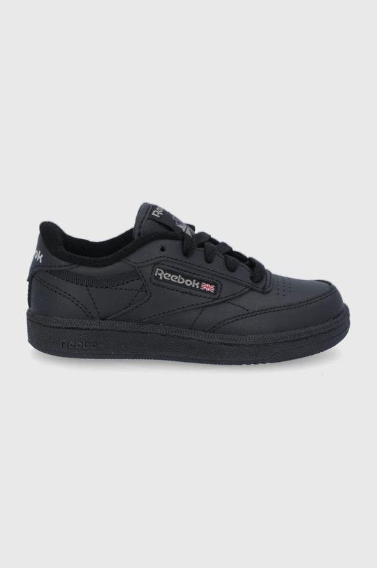 čierna Reebok Classic - Detské kožené topánky Club C Chlapčenský