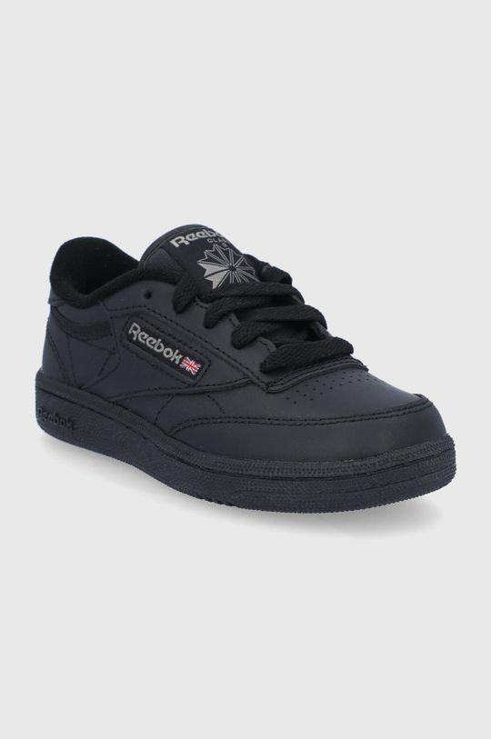 Reebok Classic - Detské kožené topánky Club C čierna