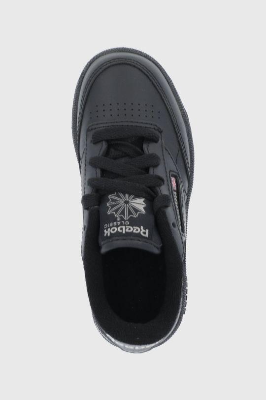 čierna Reebok Classic - Detské kožené topánky Club C