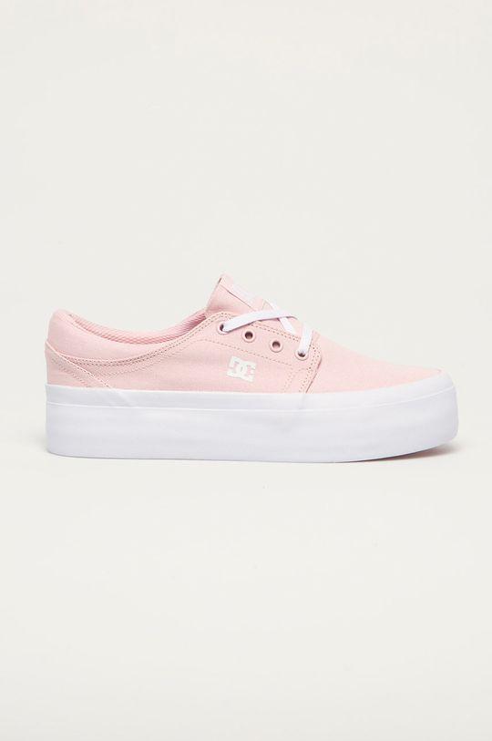 pastelowy różowy Dc - Tenisówki Damski