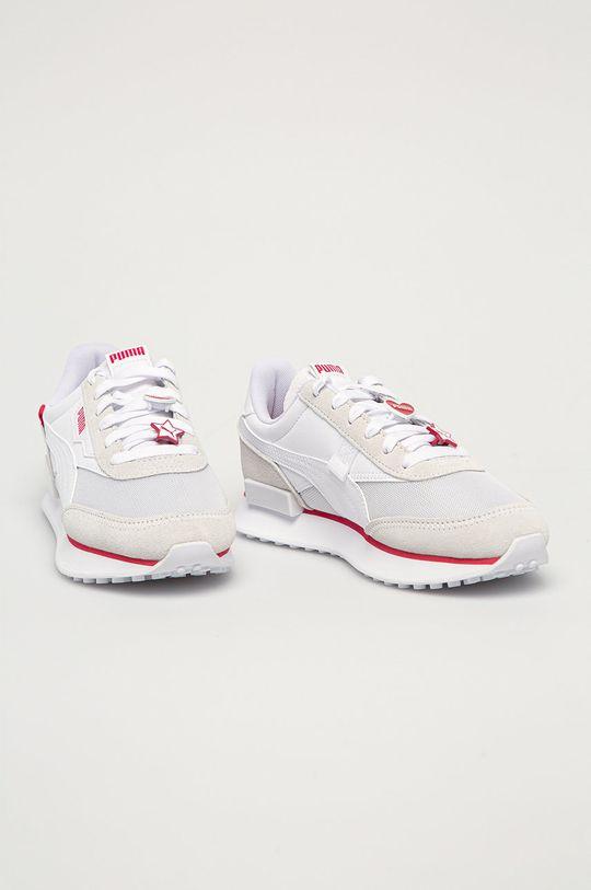 Puma - Kožené boty Future Rider Galentines bílá
