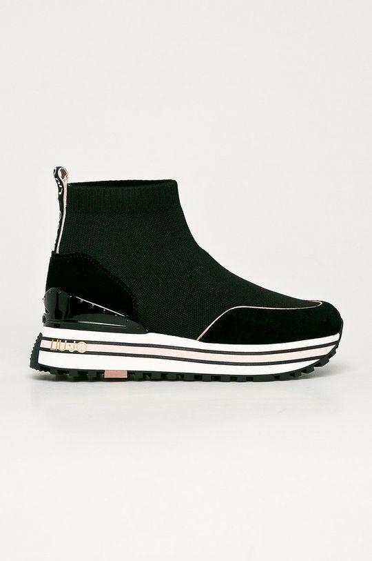 černá Liu Jo - Kožené boty Dámský