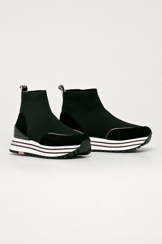 Liu Jo - Kožené boty černá
