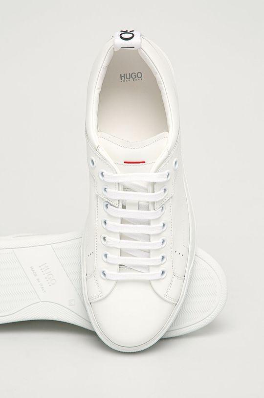 bílá Hugo - Kožené boty