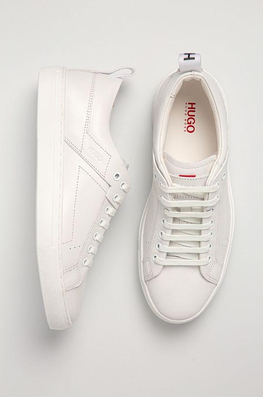 biela Hugo - Kožená obuv