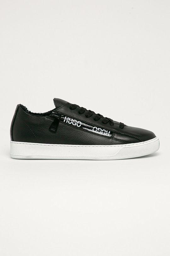 černá Hugo - Kožené boty Dámský