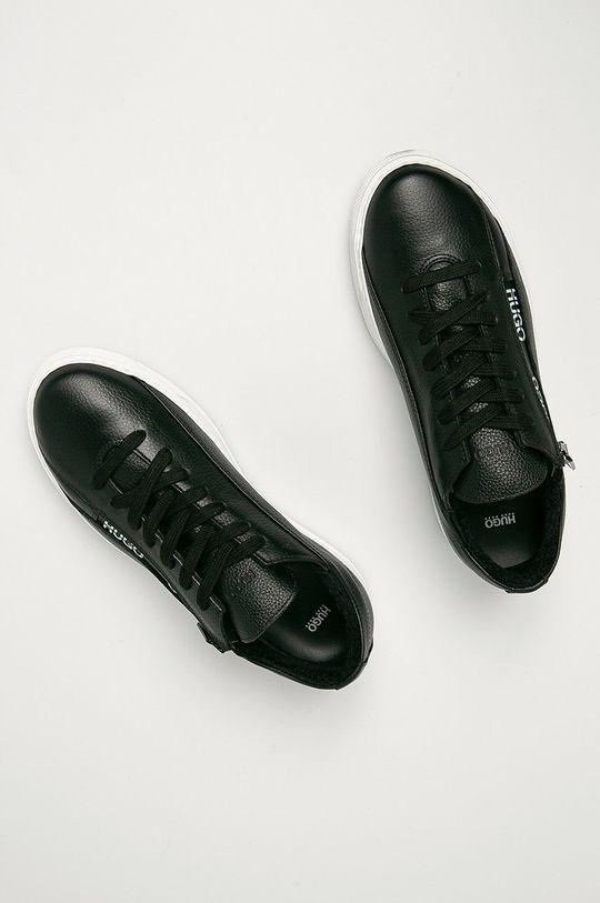 černá Hugo - Kožené boty