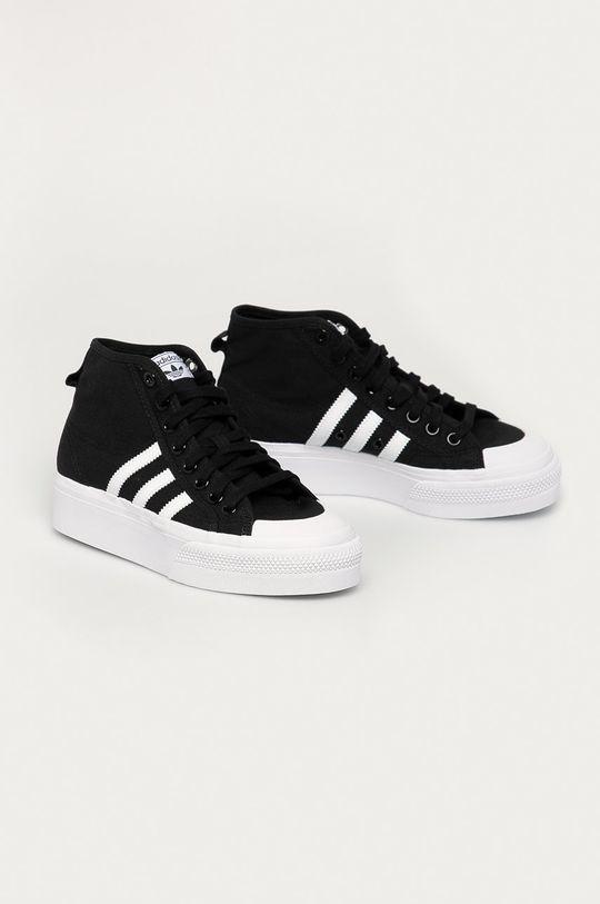 adidas Originals - Trampki Nizza Platform Mid czarny