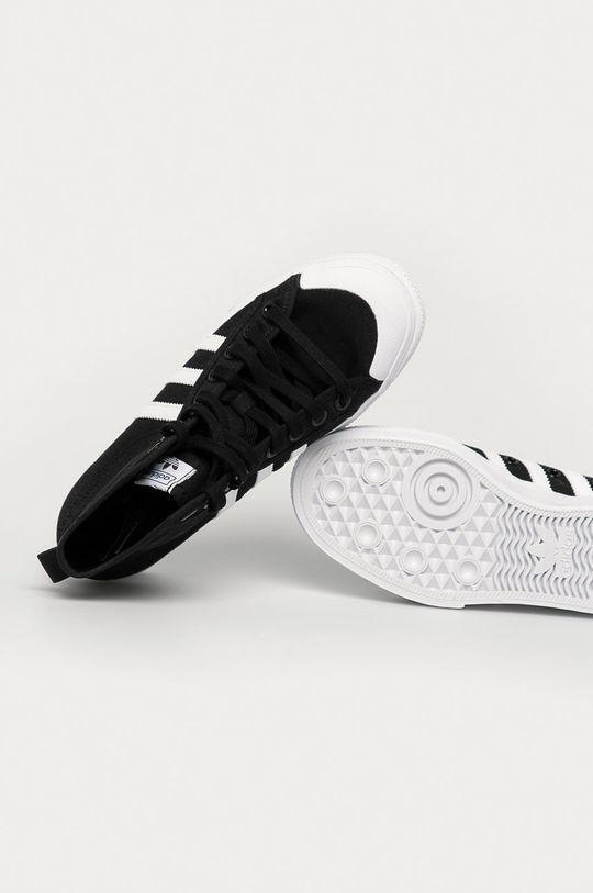 czarny adidas Originals - Trampki Nizza Platform Mid