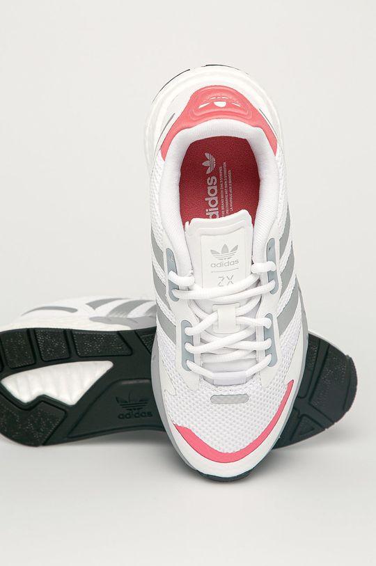 alb adidas Originals - Pantofi ZX 1K Boost