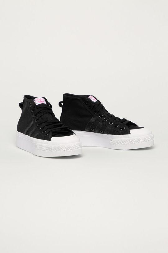 adidas Originals - Tenisky Nizza Platform čierna
