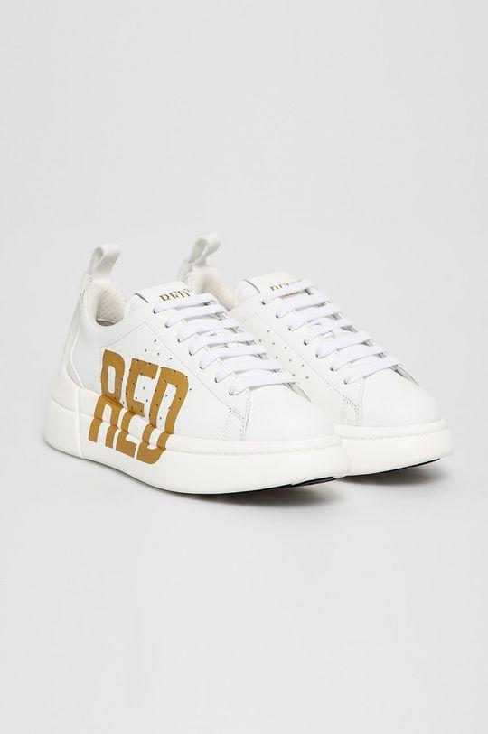 Red Valentino - Kožené boty bílá