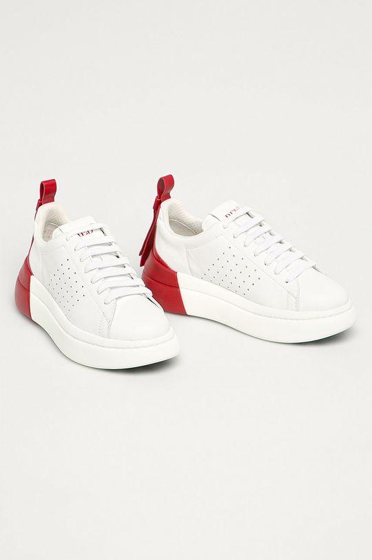 Red Valentino - Kožená obuv červená