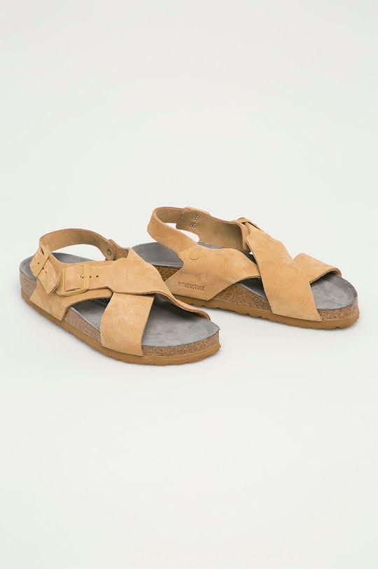 Birkenstock - Semišové sandály Tulum béžová