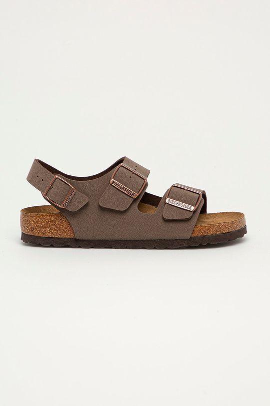 hnědá Birkenstock - Kožené sandály Milano Dámský