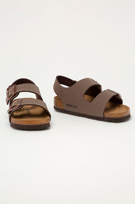 Birkenstock - Kožené sandály Milano hnědá