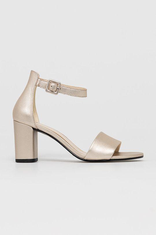 złoty Vagabond - Sandały skórzane Penny Damski