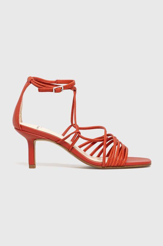czerwony Vagabond - Sandały skórzane Amanda Damski