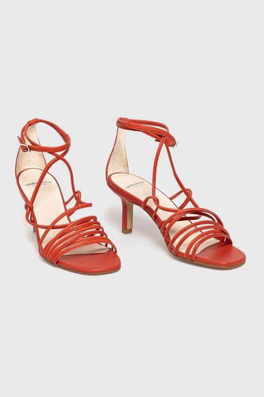 Vagabond - Sandały skórzane Amanda czerwony