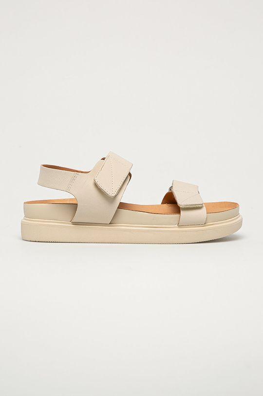 krémová Vagabond - Kožené sandále Erin Dámsky