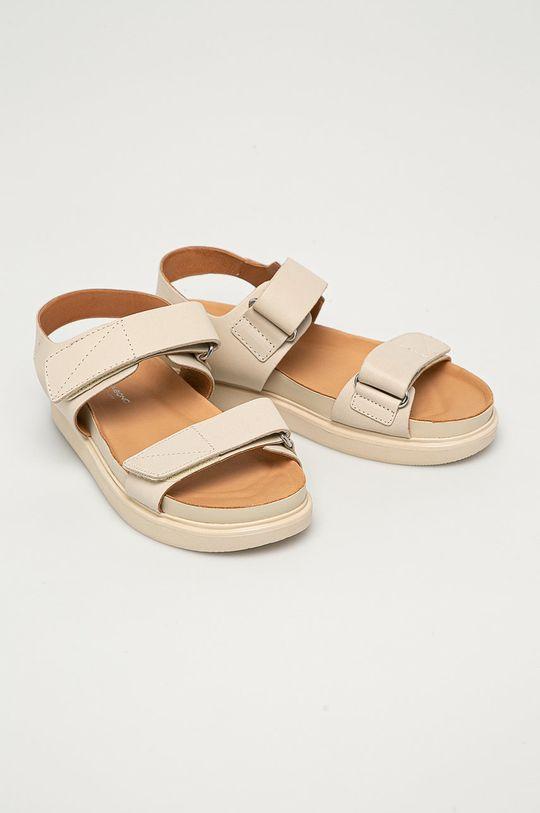 Vagabond - Kožené sandále Erin krémová