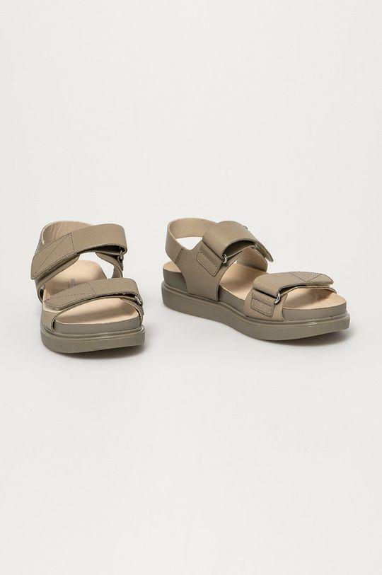Vagabond - Kožené sandály Erin šedá