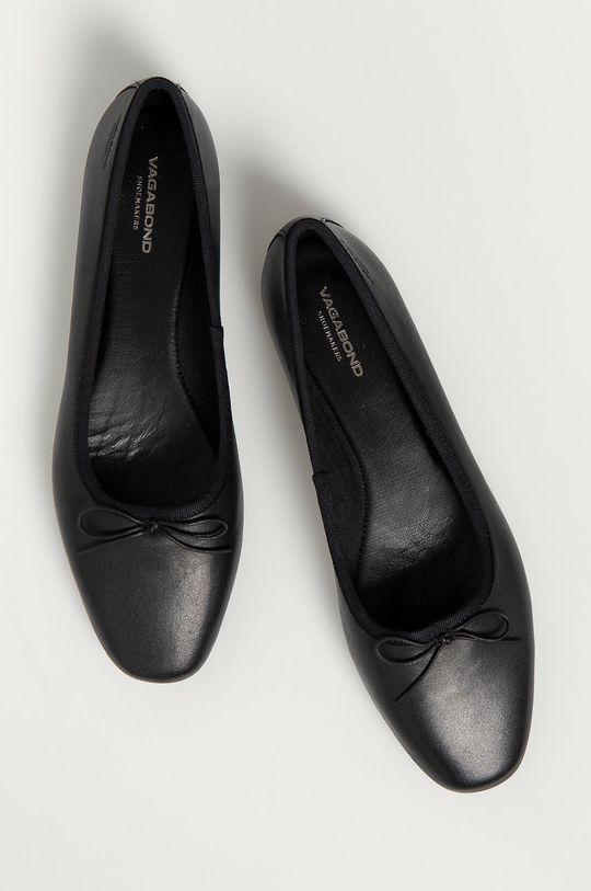 čierna Vagabond - Kožené balerínky Maddie