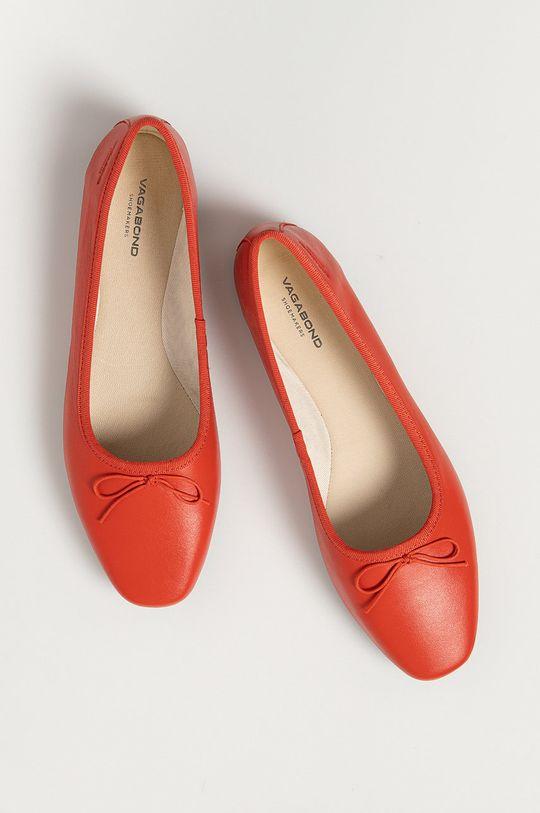 červená Vagabond - Kožené baleríny Maddie