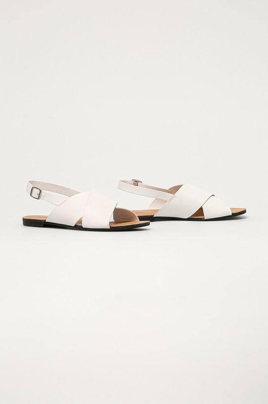 Vagabond - Kožené sandále Tia biela