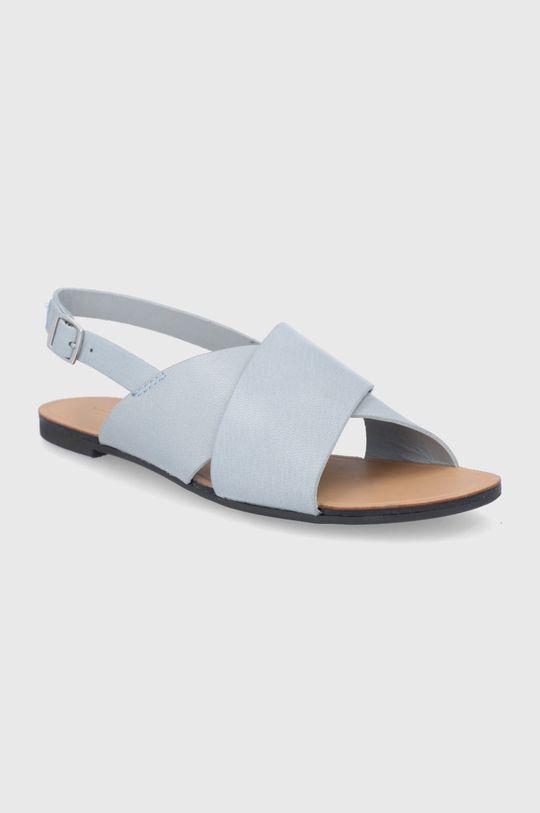 Vagabond - Kožené sandále Tia svetlomodrá