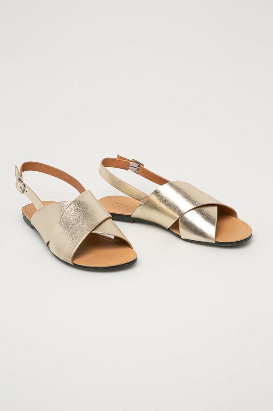 Vagabond - Kožené sandále Tia zlatá