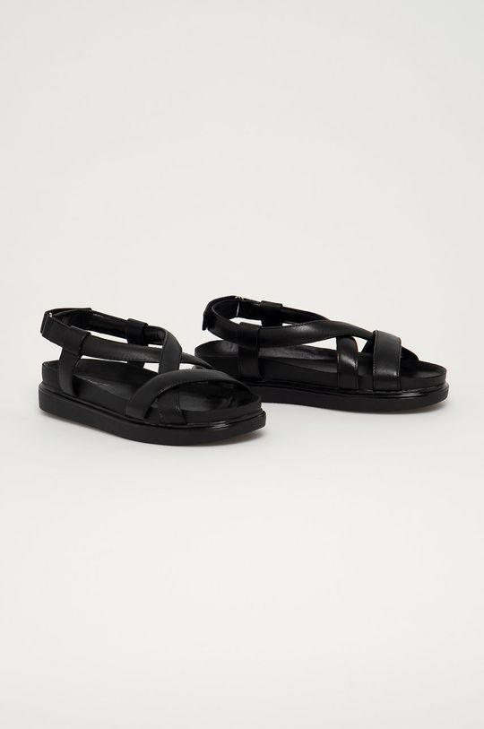 Vagabond - Kožené sandále Erin čierna