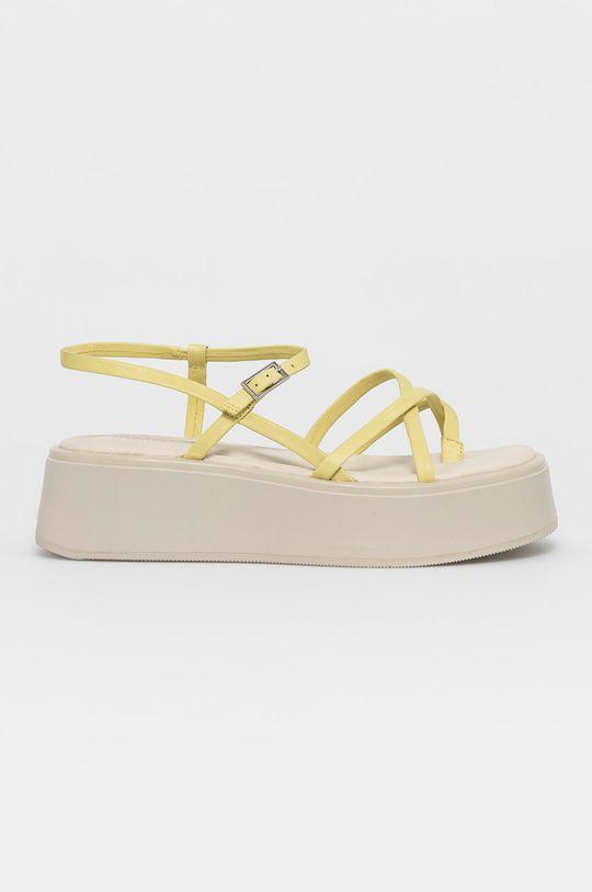 galben Vagabond - Sandale de piele Courtney De femei