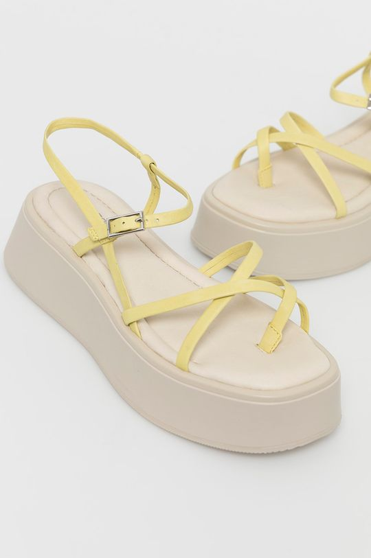 Vagabond - Sandale de piele Courtney galben