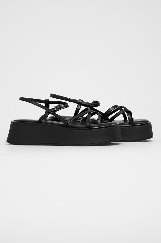 Vagabond - Sandały skórzane Courtney czarny