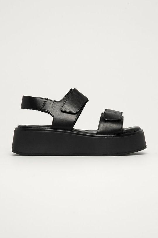 čierna Vagabond - Kožené sandále Courtney Dámsky