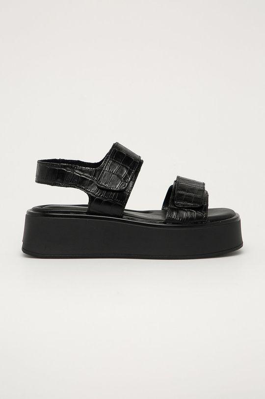černá Vagabond - Kožené sandály Courtney Dámský