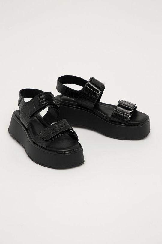 Vagabond - Kožené sandály Courtney černá