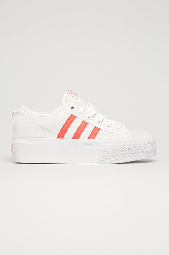 biały adidas Originals - Tenisówki Nizza Platform W Damski