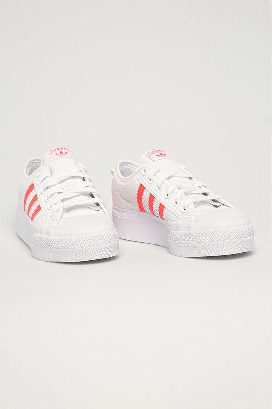 adidas Originals - Tenisówki Nizza Platform W biały