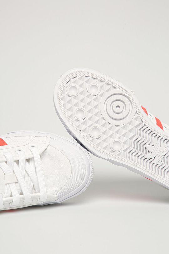 biały adidas Originals - Tenisówki Nizza Platform W