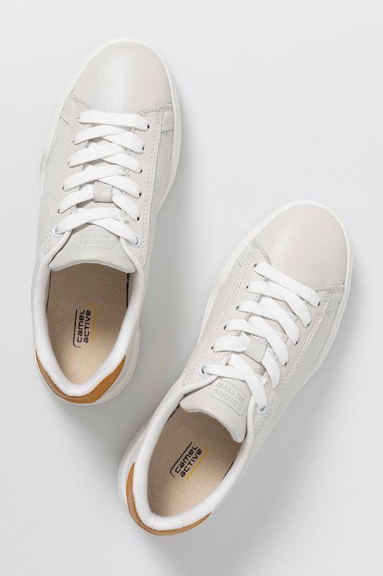 bílá Camel Active - Kožené boty