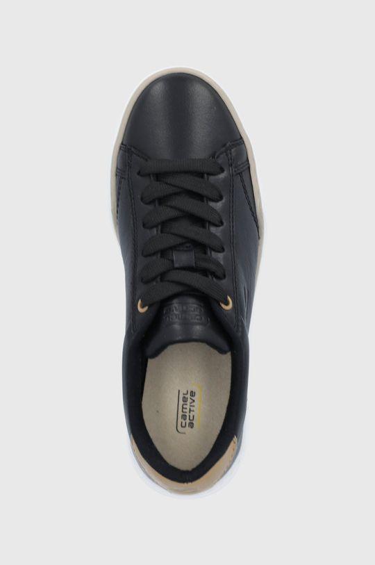 čierna Camel Active - Kožená obuv