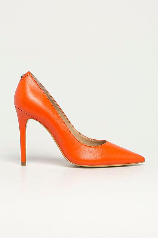oranžová Guess - Kožené lodičky Dámský